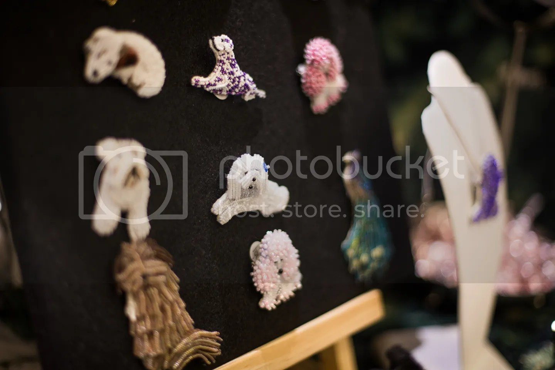Holiday Pet Shoppes Show Sheraton Boston Hotel beaded dog pins etsy