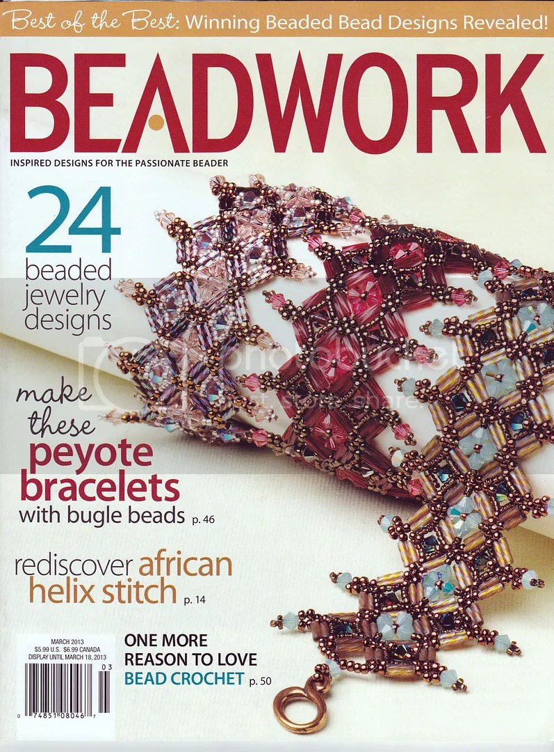 Beadwork Magazine Feb. March 2013 Beadwork Bead Artist Page The Lone Beader