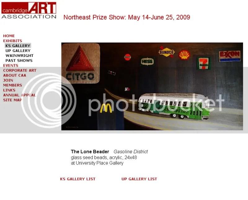 Beaded Boston Green Line Trolley Gasoline District Cambridge Art Association Northeast Prize Show The Lone Beader