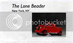 Lone Beader name tag wordless wednesday New York Boston artist beadwork bead international 2008 NYC