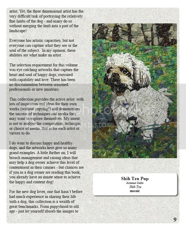 Great Dogs Amazing artists beaded dog art book mosaic paintings Clumber spaniel Erinrac the lone beader