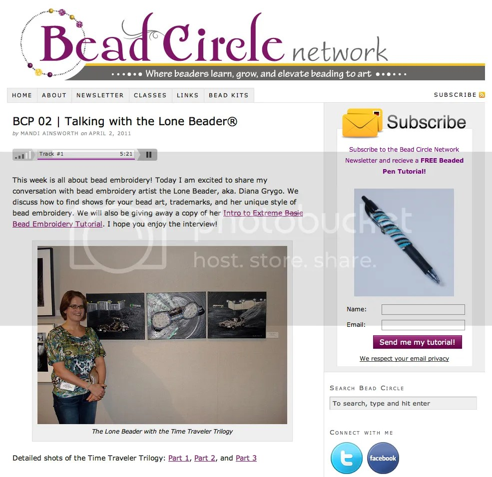 Interview Podcast with The Lone Beader on Bead Circle BeadCircle.com