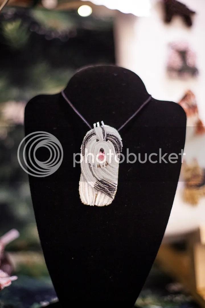 Holiday Pet Shoppes beaded pet pins Old English Sheepdog pendant etsy Boston