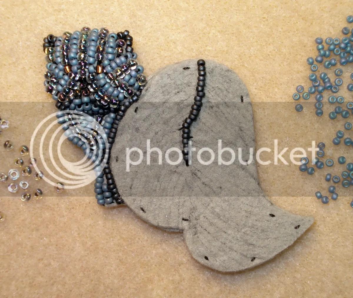 rare blue persian beaded cat pin pendant bead embroidery progress etsy