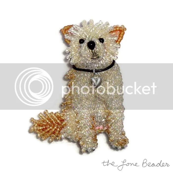 Custom Beaded Choodle Chihuahua Poodle Dog Pin Pendant Jewelry Etsy AKC Family Dog