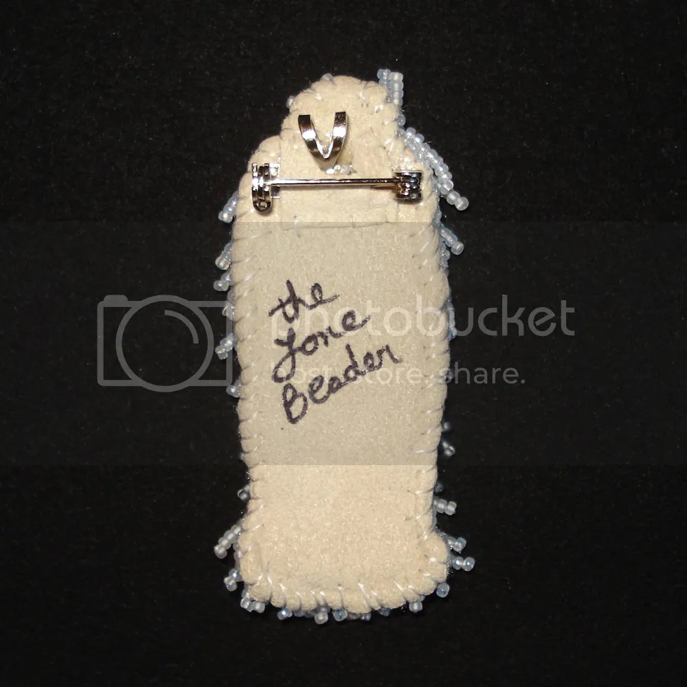 beaded Bailey Old English sheepdog pin pendant commission beadwork for sale etsy the lone beader