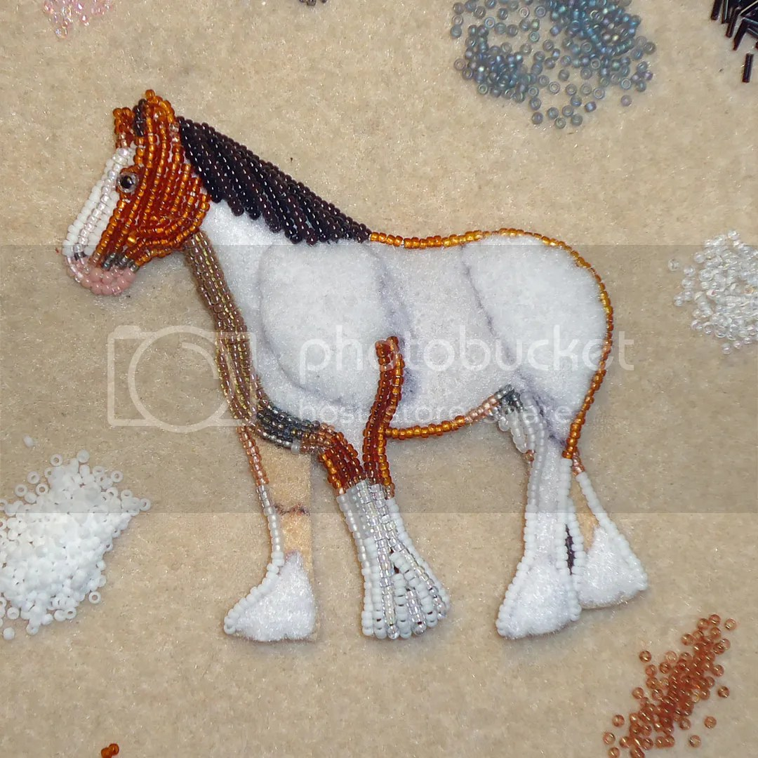 Beaded Animal Pin Bead Embroidery Clydesdale Draft Horse Brooch Etsy Amazon Beads Artist Beaded