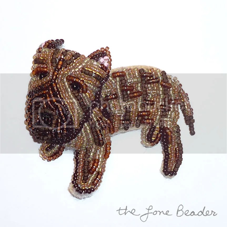 custom beaded brindle pit bull pit bull jewelry beadwork bead embroidery etsy dog