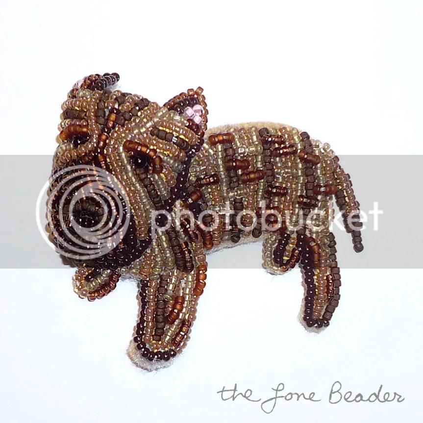 custom beaded brindle pit bull pit bull jewelry beadwork bead embroidery etsy dog