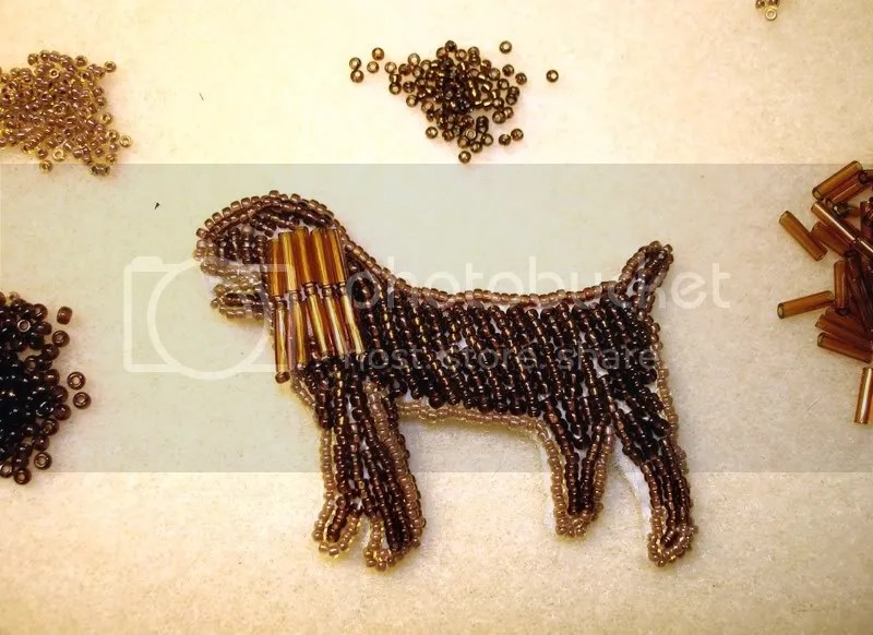 beaded sussex spaniel stump best in show bead embroidery pop art beadwork beading blog pattern etsy