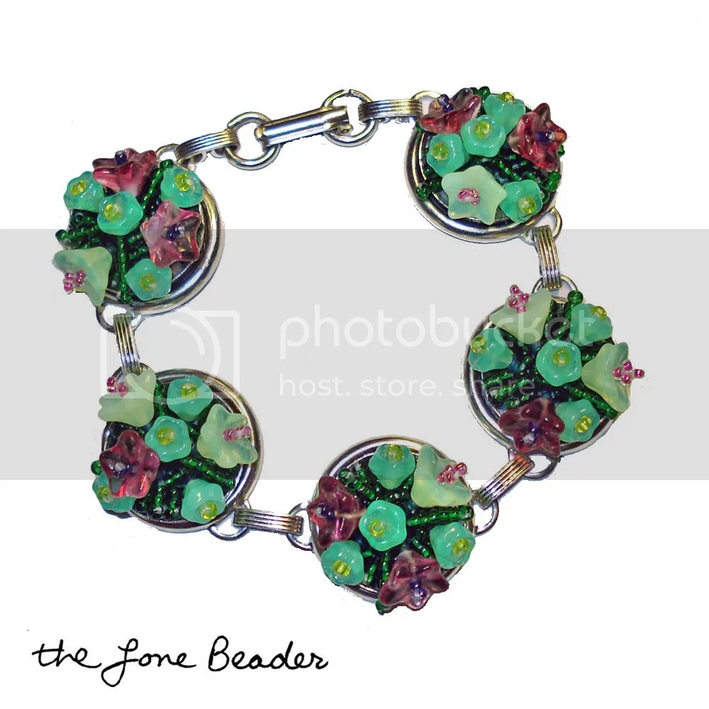 Czech glass beads Artbeads.com bead embroidery patera frame bracelet findings beadwork beaded flowerbed flower garden