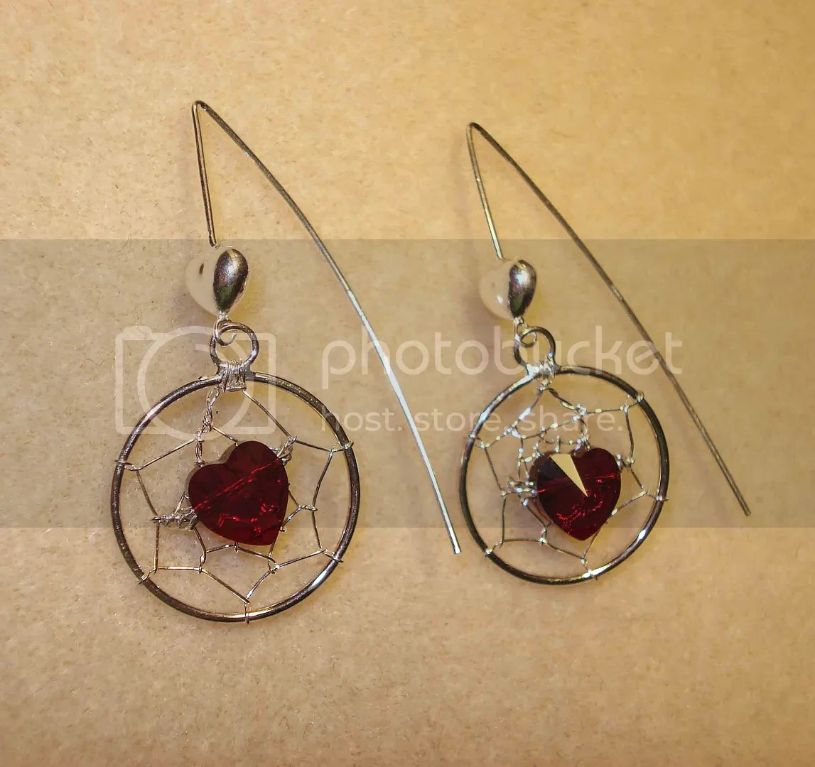 swarovski crystal beaded sterling silver earrings artbeads.com sweepstakes etsy Valentine's Day