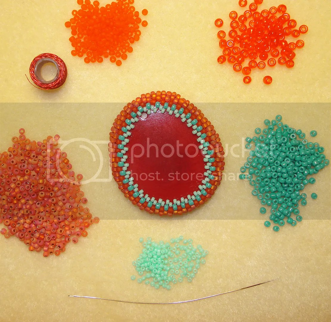 seed beads peyote stitch tagua nut potato chip bead embroidery etsy