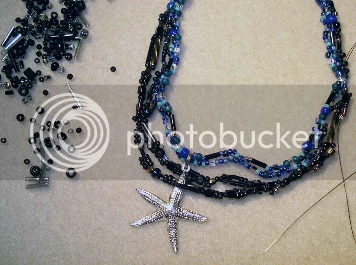 beaded beadwork BP oil spill starfish trapped dead freeform peyote etsy thelonebeader artbeads.com