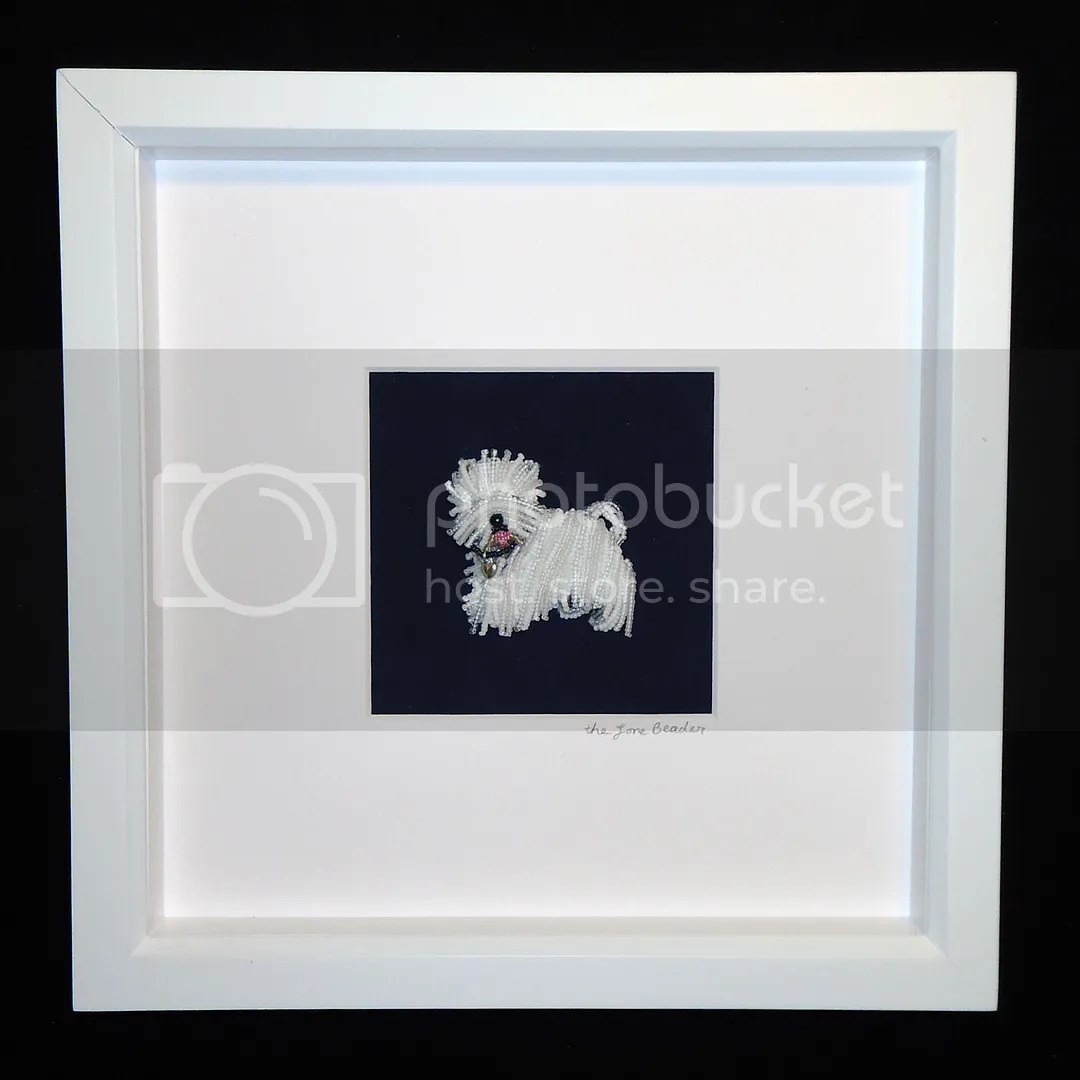 Beaded Westie West Highland White Terrier Framed Pet Portrait Etsy Beadwork Artist Boston Spring Sale