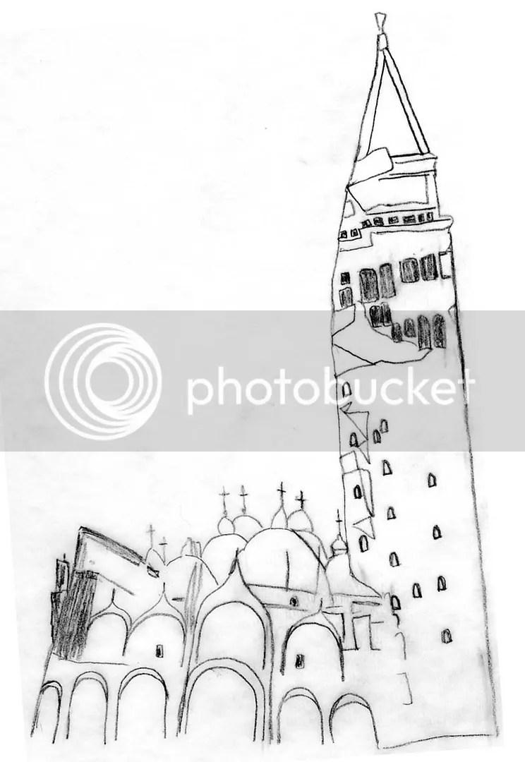beaded beadwork Venice Italy St. Marks Square campanile erosion Basilica photo photoshop sketch jiri kolar