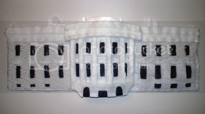 beaded White House Barack Obama Washington DC pop art beadwork bead embroidery blog