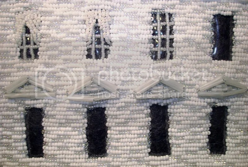 beaded White House windows Barack Obama pop art beadwork bead embroidery blog