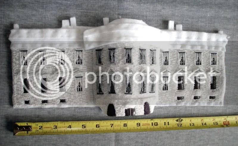 beaded White House Barack Obama nymo bead embroidery pop art Boston fiber art beading blog
