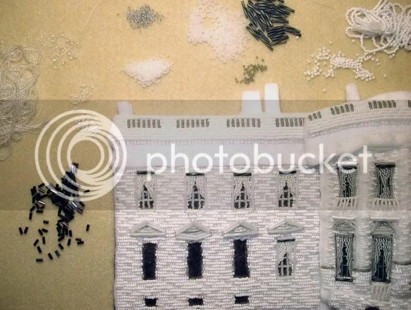 beaded White House President Barack Obama change bead embroidery pop art beadwork beading blog slaves