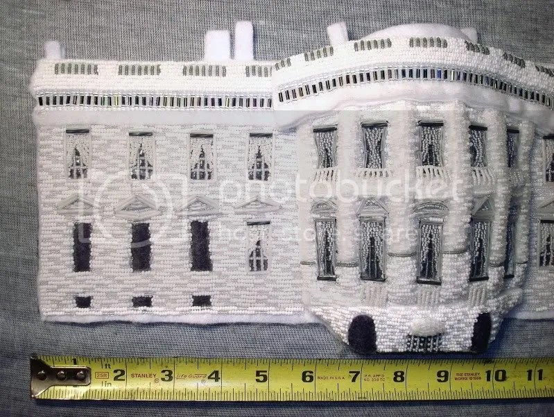 beaded White House President Barack Obama change bead embroidery pop art beadwork beading blog slaves