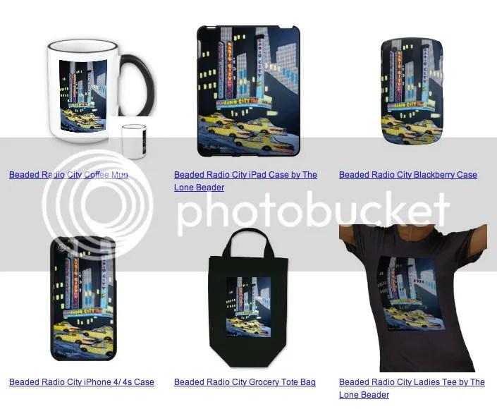 Zazzle beaded radio city music hall ipod ipad iphone blackberry cases