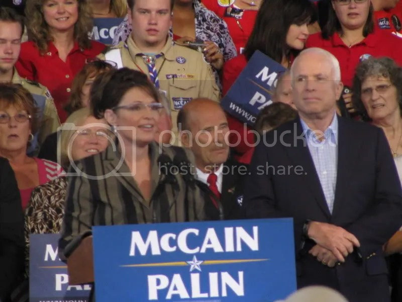 Palin Speaking as McCain Watches
