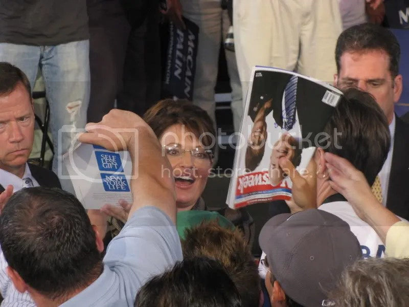 Governor Palin Walking Through the Crowd
