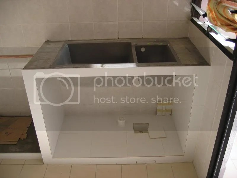 cement kitchen sink decorating ideas kitchens concrete wall for bottom cabinet carpentry works renotalk com img 1775 jpg
