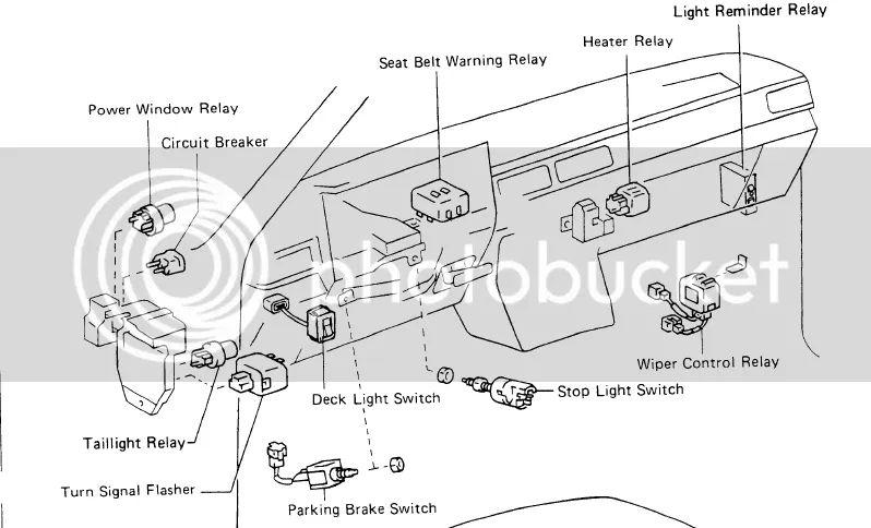 1985 toyota mr2 fuse box diagram