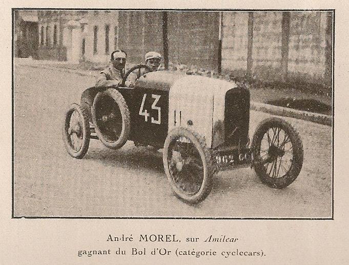 Andre Morel auf Amilcar