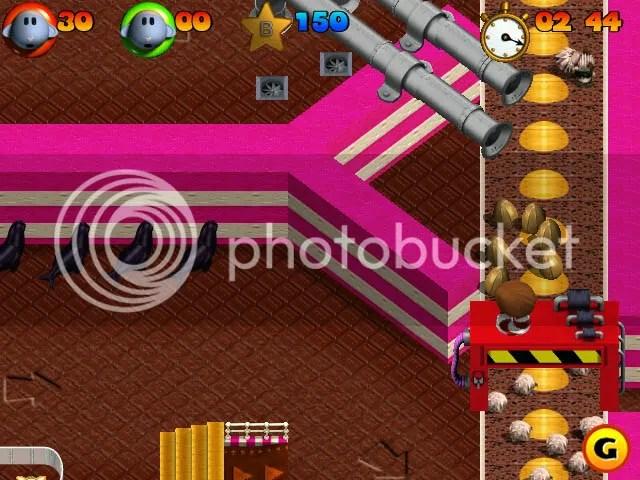 Chokladgolv, får som blir nötter i en maskin och framför allt SÄLAR. Vad mer kan man begära? från Sheep (PC, PS1)