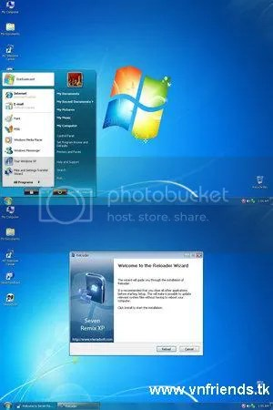 Seven Remix XP 2.4 - giả lập Win 7,software vnfriends.tk
