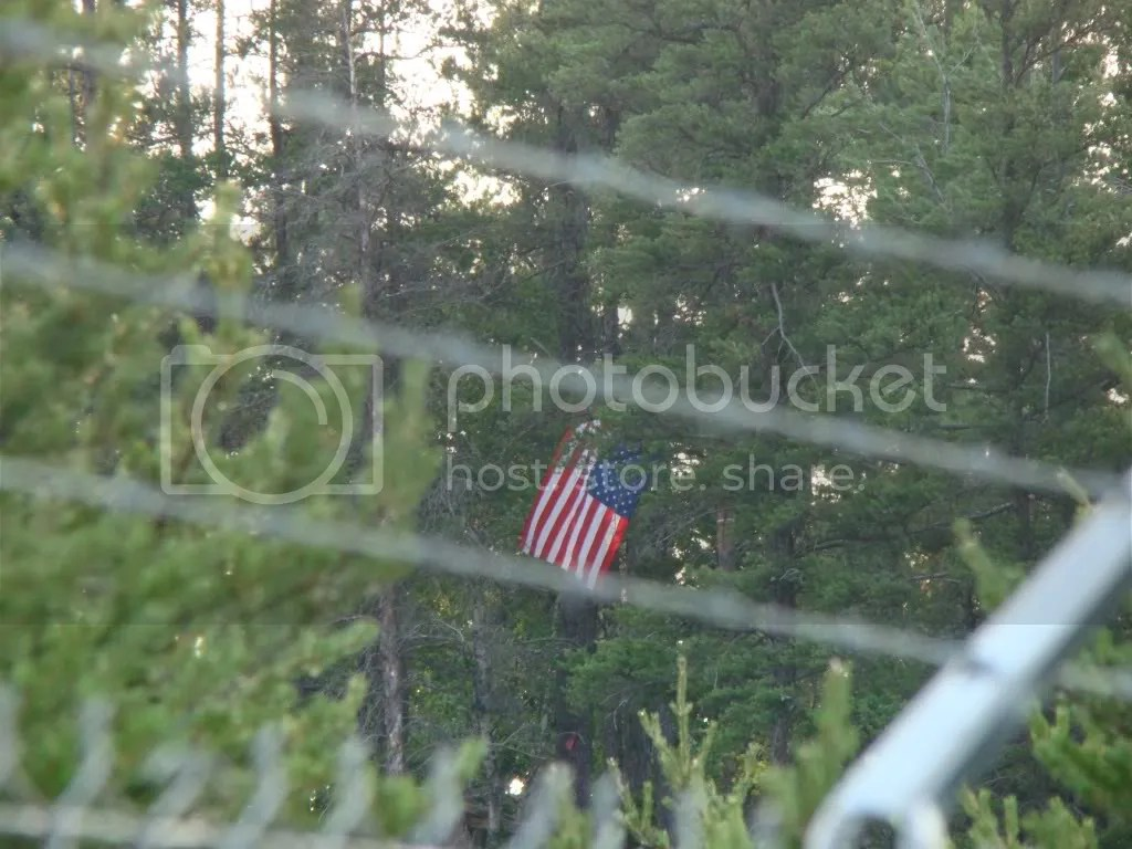 4th Flag at eagle Rock hung upside down