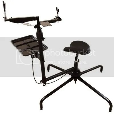 Outdoor Shooting Stabilizer Bench Gun Rest Chair Seat on