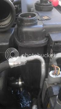Swollen radiator hoses