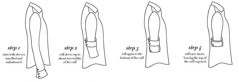 How to Properly Roll Your Sleeves
