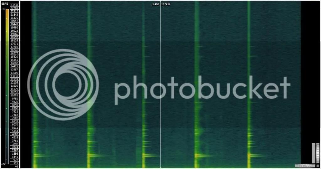 Concrete block spectrogram