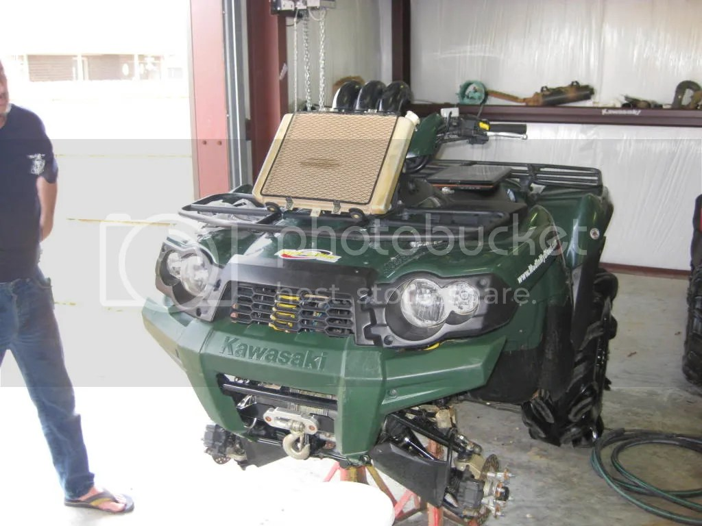 2016 kawasaki brute force 750 wiring diagram ford mondeo mk4 stereo how to relocate radiator mudinmyblood forums making the connections hoses vents and fan connection