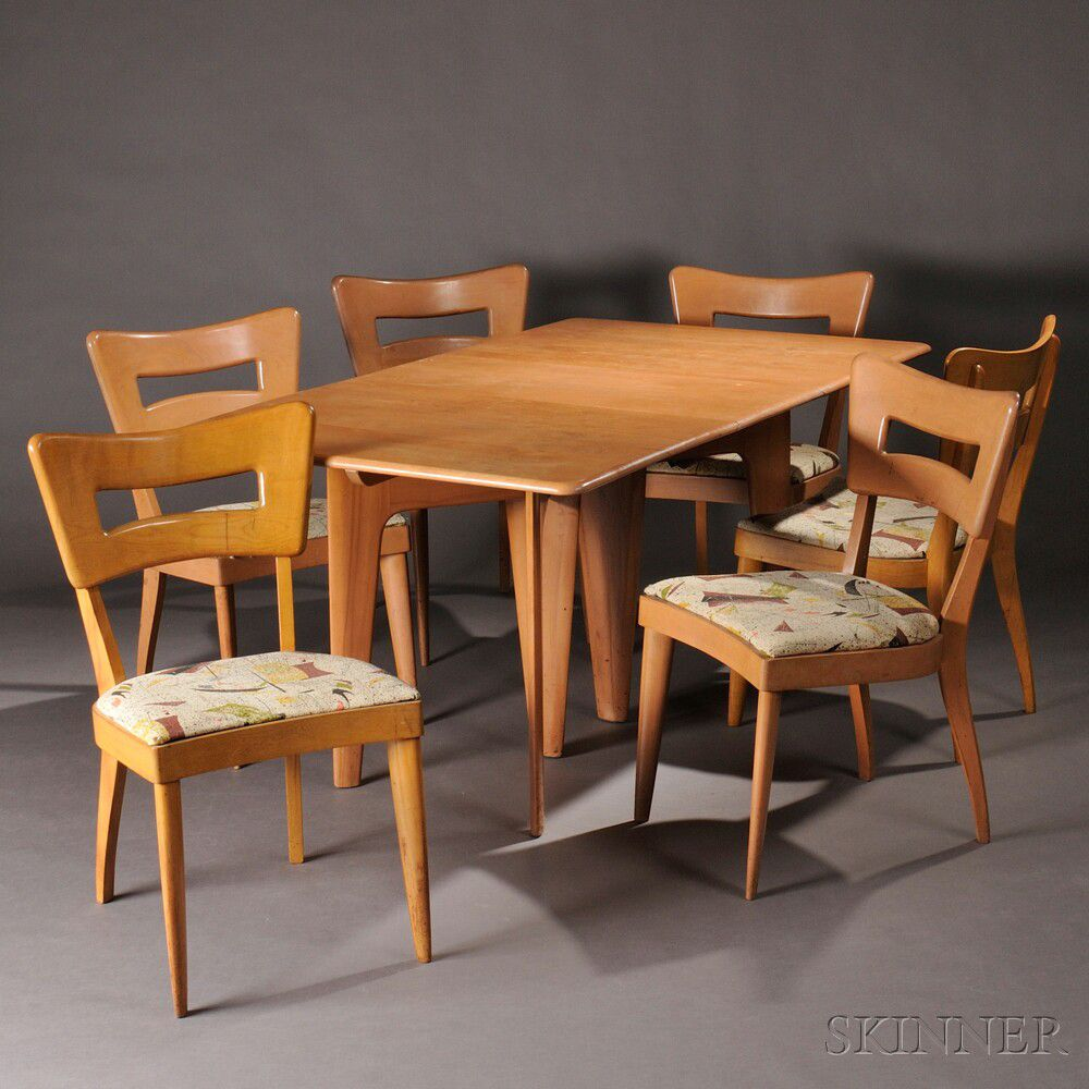 Heywood Wakefield Dining Chairs Heywood Wakefield Dining Table And Six Dogbone Chairs Sale