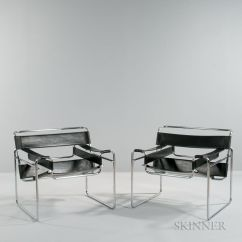 Breuer Chairs For Sale That Turn Into Beds Pair Of Marcel Wassily Number 3057m Lot