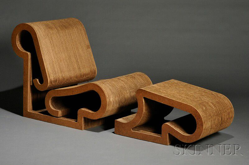 frank gehry chair wheelchair housing design guide cardboard and ottoman sale number 2577b