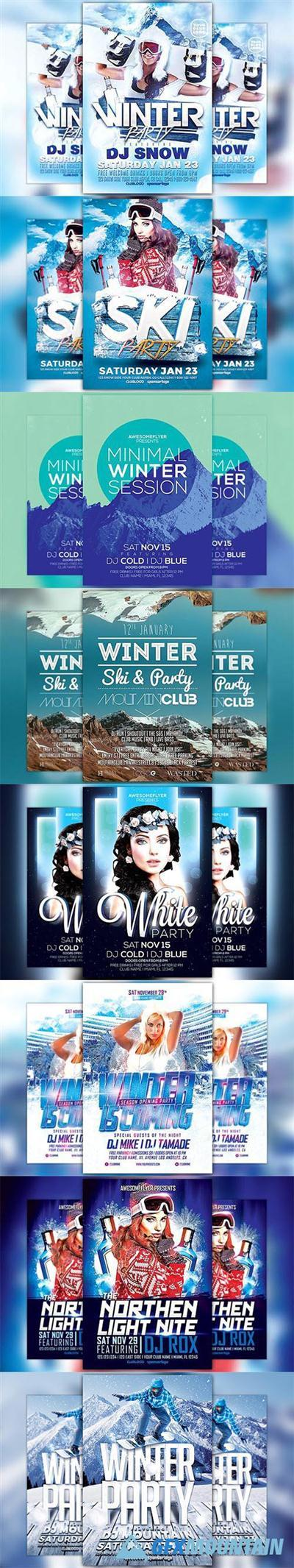 Winter Flyer Template Bundle – 1098099 | NulledTorrent