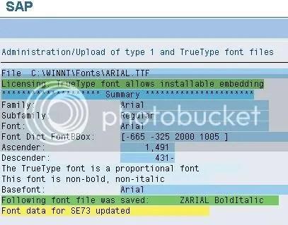 Upload fonts in an SAP System/ Font Maintenance | alternateplanet