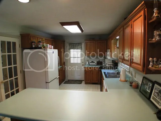 Spacious country kitchen with pantry, Franklin NC Cedar Cabin for Sale, Free MLS Search, Smokey Mountain Cabins for Sale