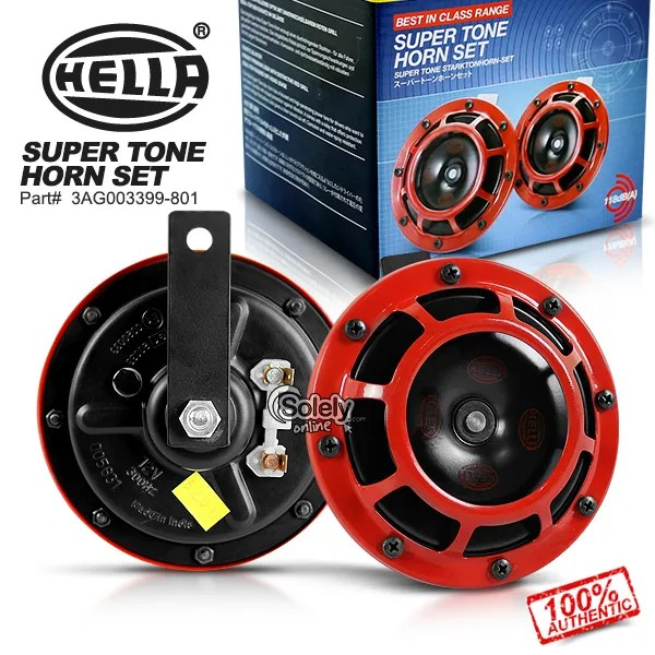 100 New Amp Genuine Hella Supertone Dual Horn Set W Relay