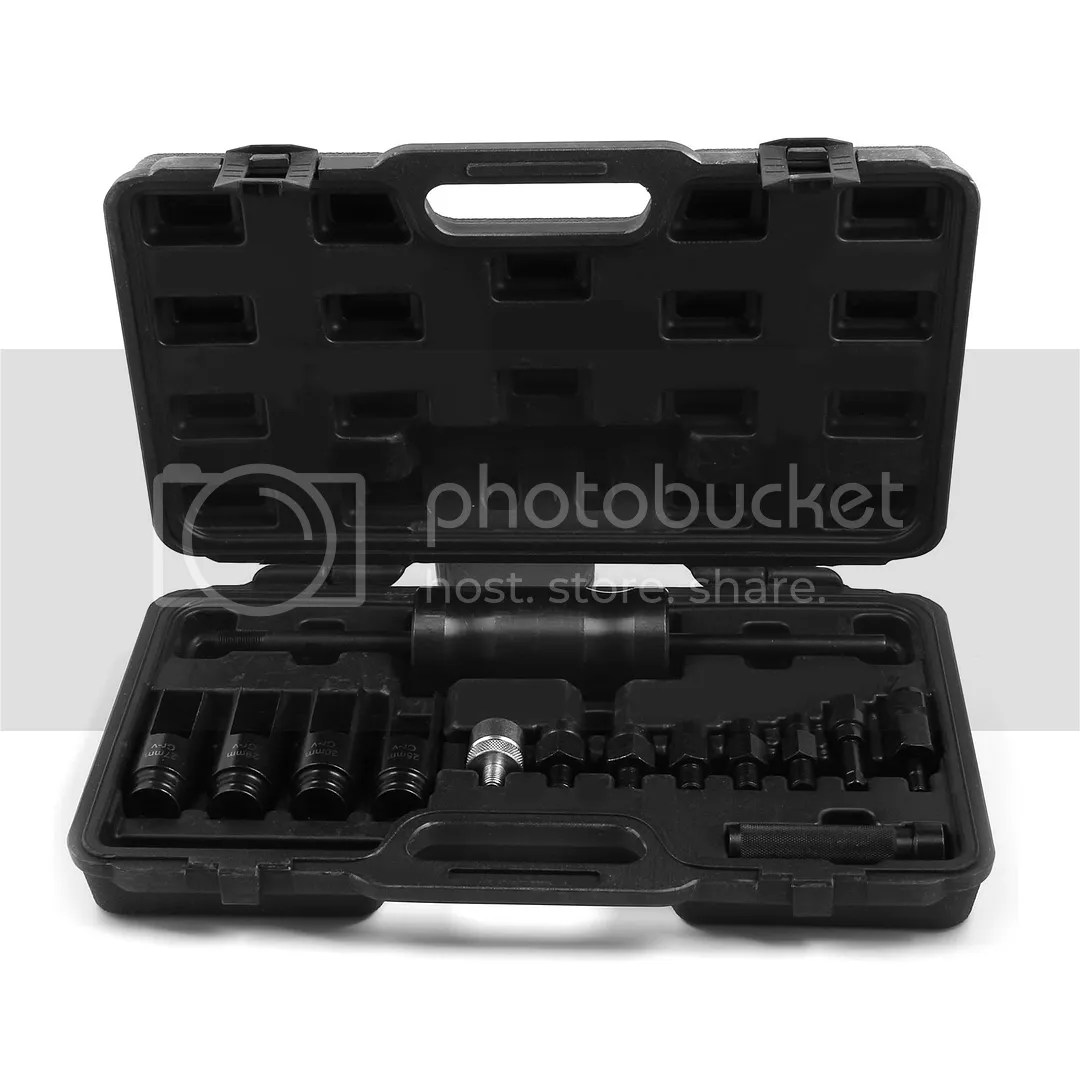14pc Injection Injector Puller Set Common Rail Adaptor