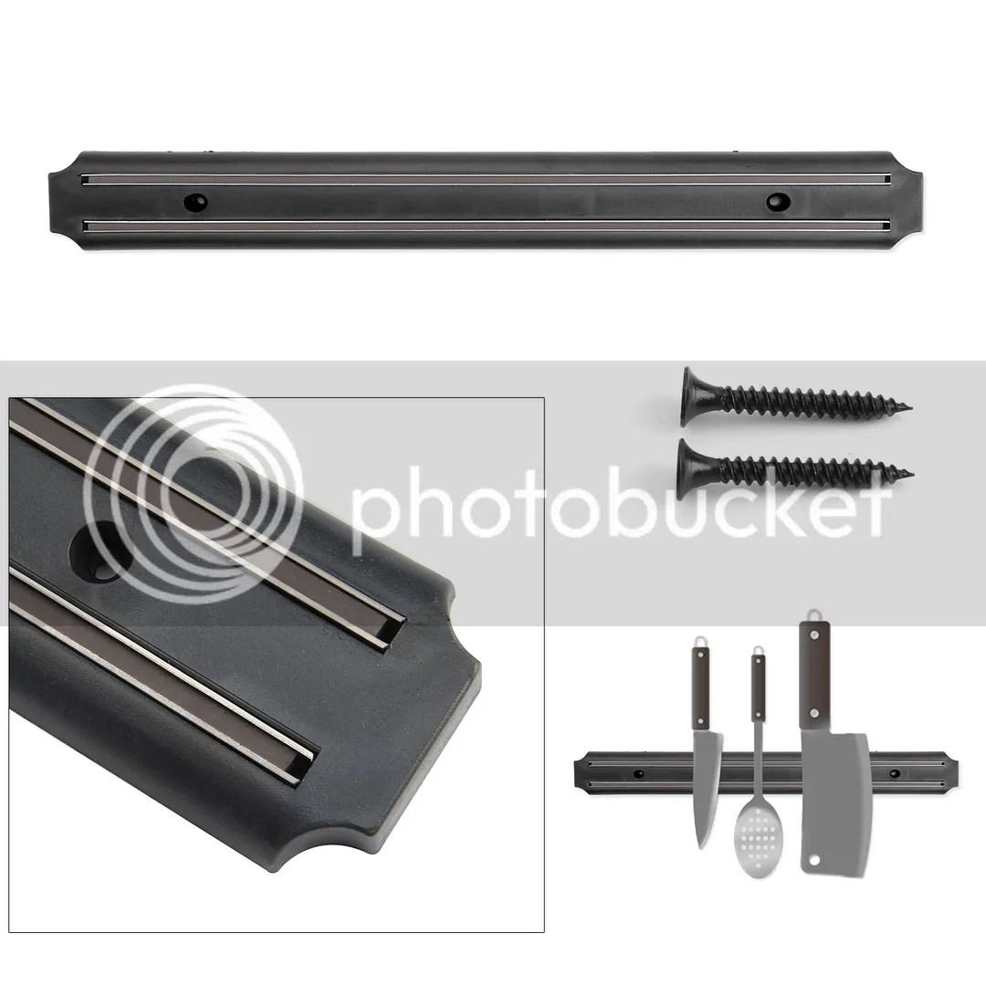 magnetic kitchen knife holder kmart 33cm wall mount storage rack strip