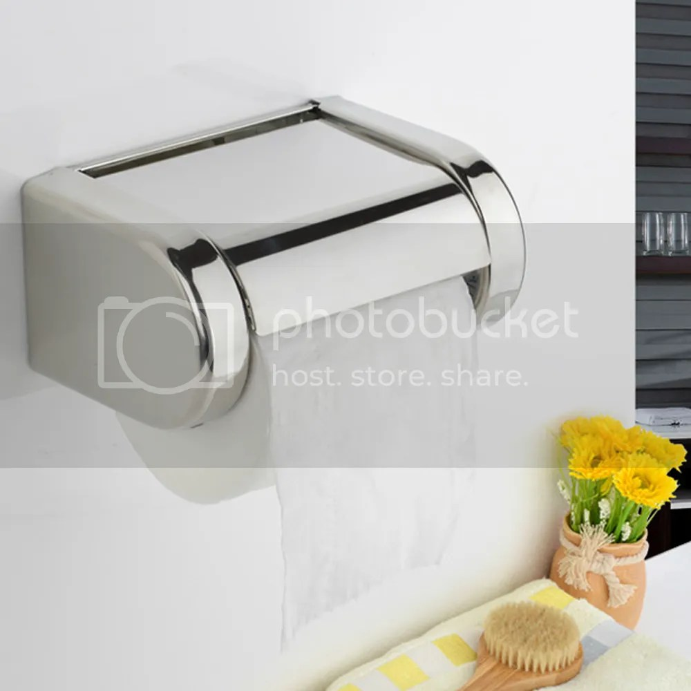 Stainless Steel Bathroom Toilet Wall Mounted Chrome Paper