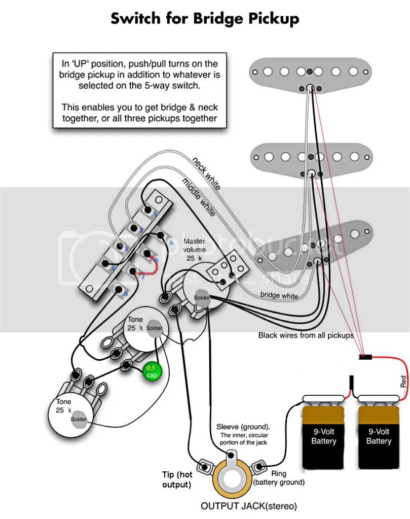 emg active pickup wiring diagram